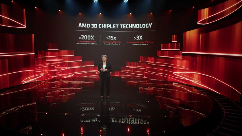 AMD 3D V-Cache 3D Chiplet Technology