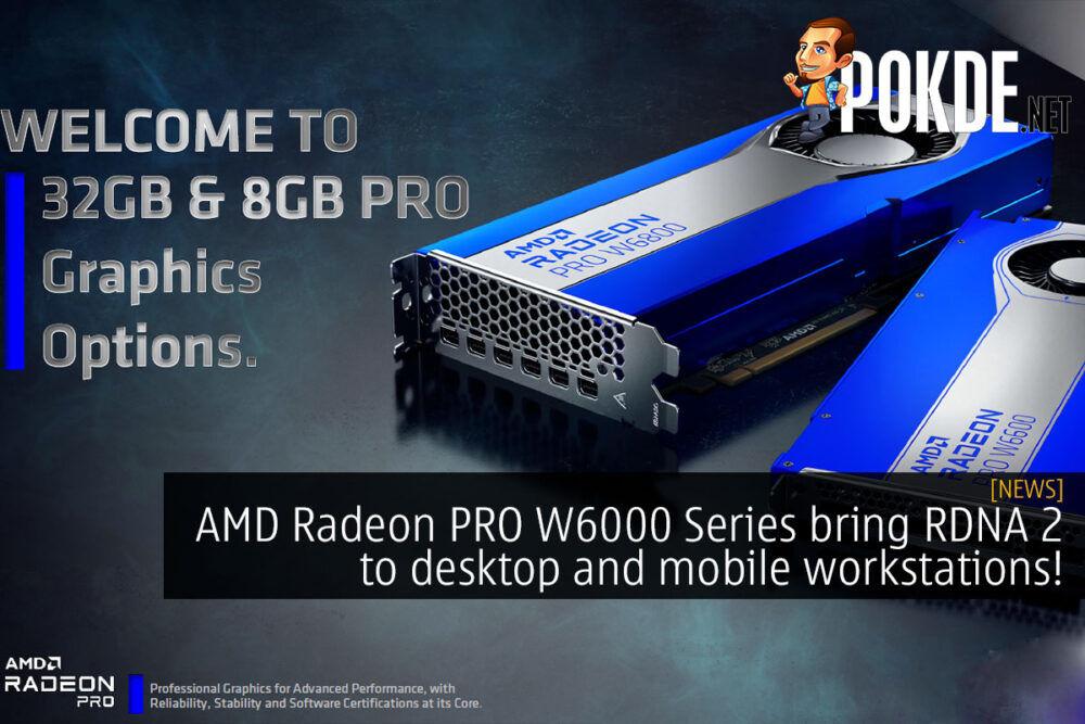 AMD Radeon PRO W6000 series workstation cover