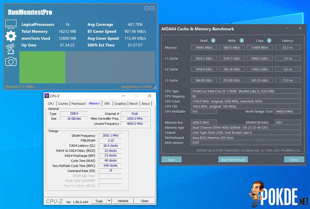 Antec Katana Review DDR4-4000 CL18 1.45v