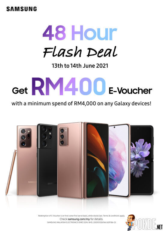 Purchase Samsung Galaxy Devices And Get Free RM400 eVoucher 24