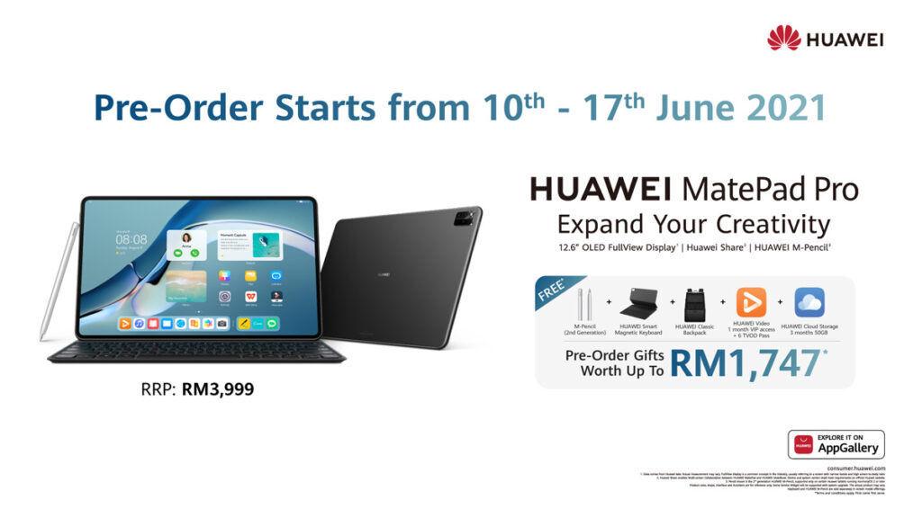 HUAWEI MatePad Pro pre-order Malaysia