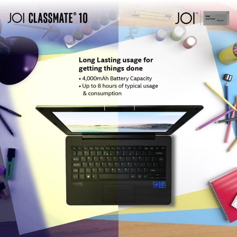 JOI Book Classmate 10 battery life