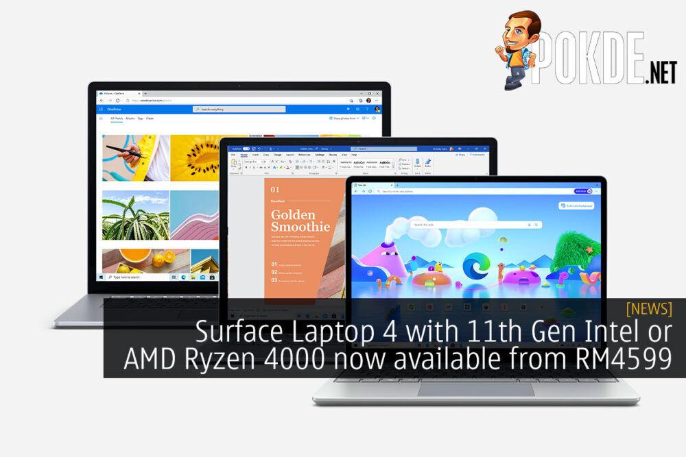 Microsoft Surface Laptop 4 11th Gen ryzen 4000 rm4599 cover