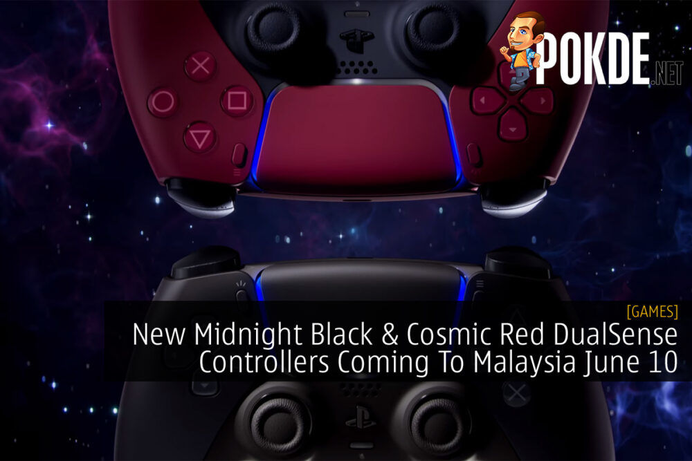 Midnight Black and Cosmic Red DualSense Controllers cover 2