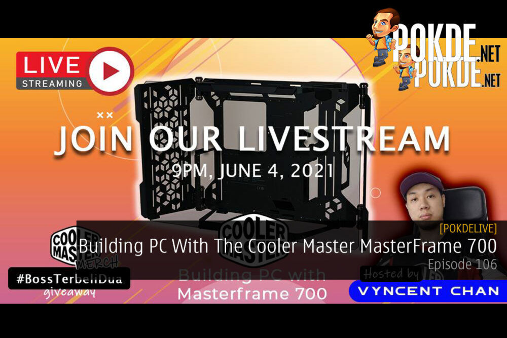 PokdeLIVE 106 — Building PC With The Cooler Master MasterFrame 700 19