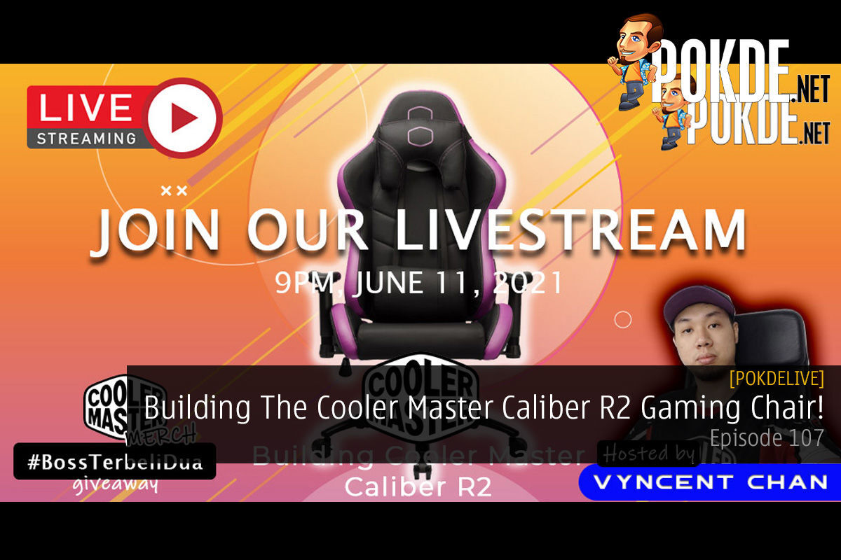 PokdeLIVE 107 — Building The Cooler Master Caliber R2 Gaming Chair! 15