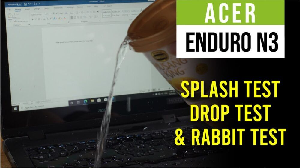Acer Enduro N3 Full Review - Splash tested, Drop tested, and Rabbit? 20