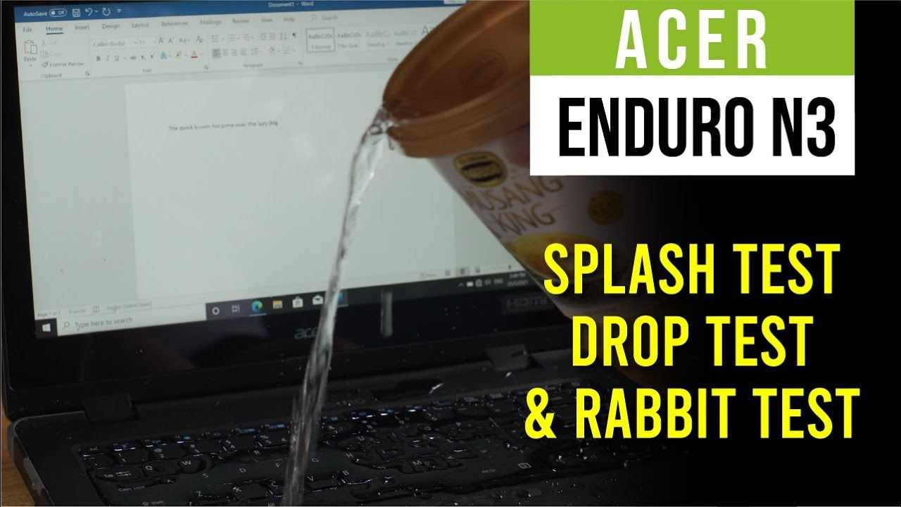 Acer Enduro N3 Full Review - Splash tested, Drop tested, and Rabbit? 18