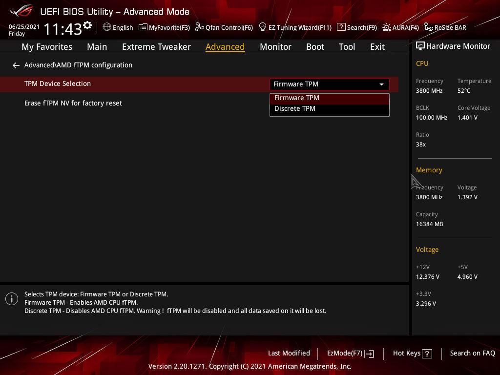 Windows 11 AMD fTPM