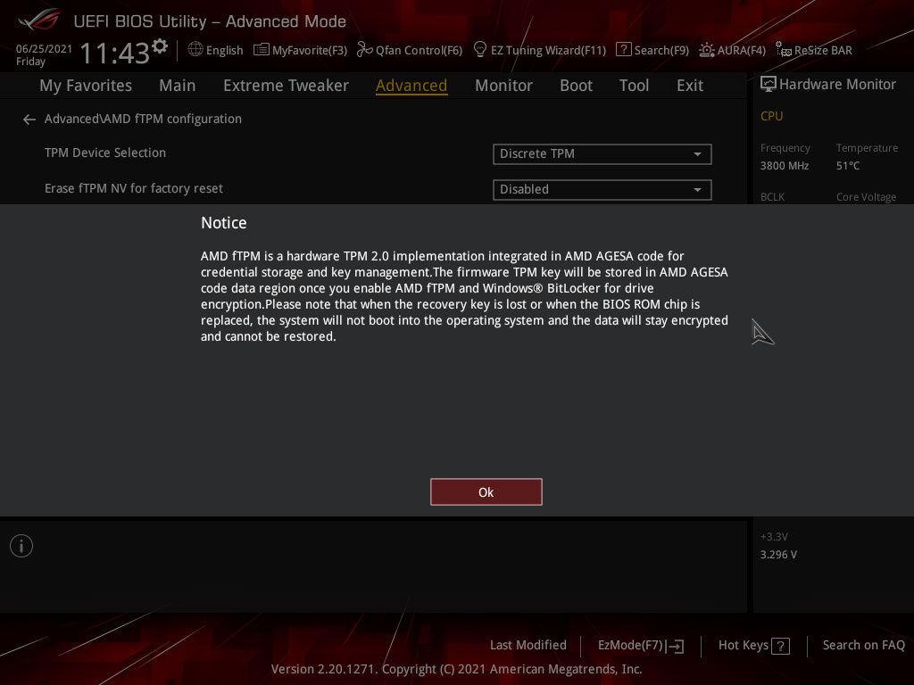 Windows 11 AMD fTPM explanation