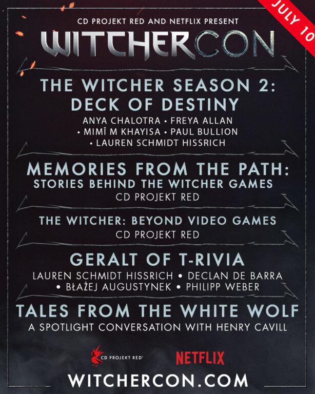 WitcherCon Netflix & CD Projekt Red