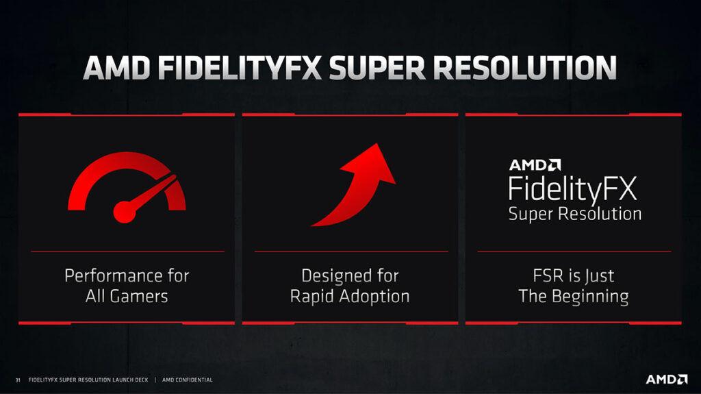 amd fidelityfx super resolution amd fsr