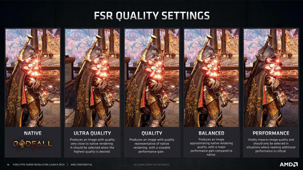 amd fidelityfx super resolution fsr graphics comparison
