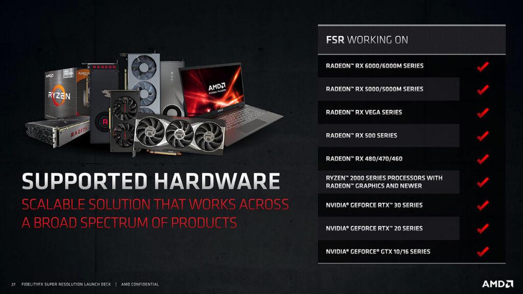 amd fidelityfx super resolution fsr supported hardware