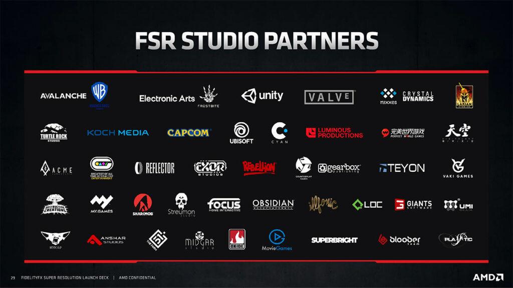 amd fidelityfx super resolution fsr supported studios