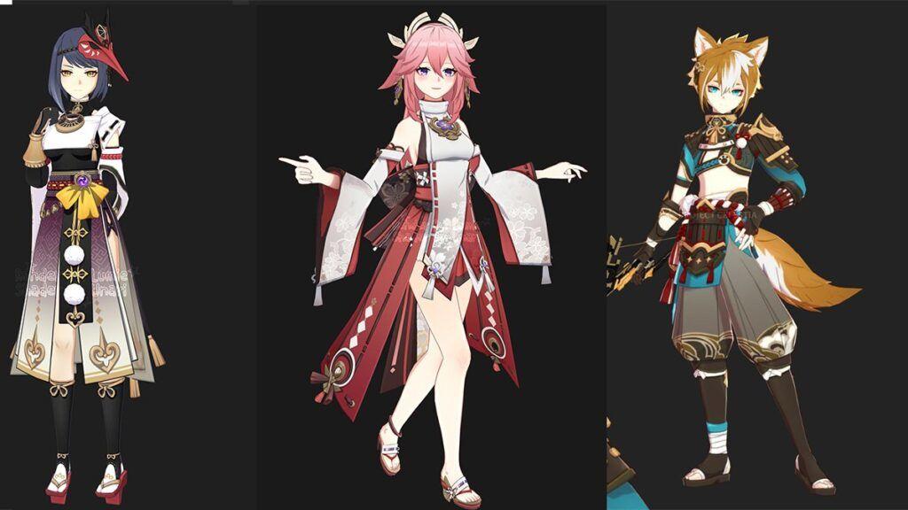 Latest Genshin Impact Leak Reveals 3 New Characters - Yae, Sara, Gorou