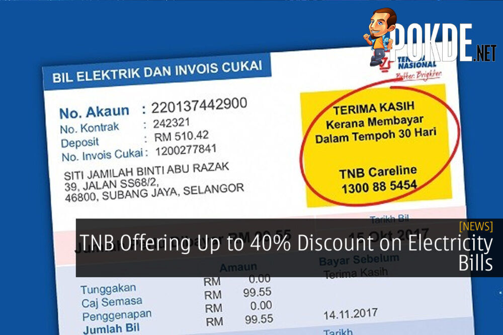 TNB Offering Up to 40% Discount on Electricity Bills