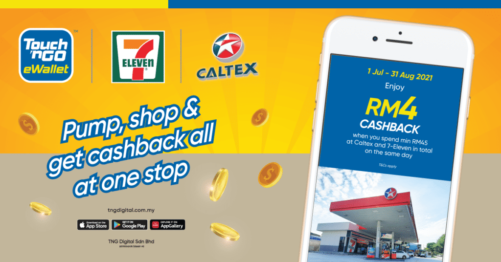 7-Eleven cashback Caltex Touch 'n Go