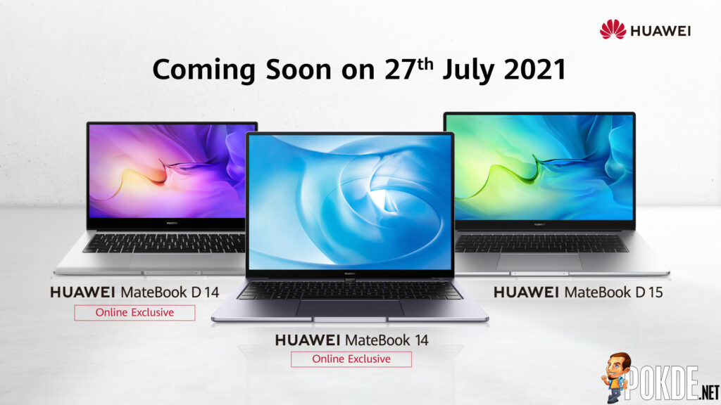 New HUAWEI MateBook D 14 And MateBook 14 To Be Sold Exclusively Online This 27 July 21