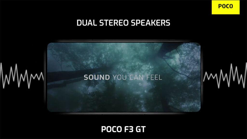 POCO F3 GT stereo dolby atmos