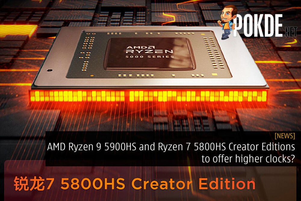 AMD Ryzen 9 5900HS Ryzen 7 5800HS Creator Edition cover