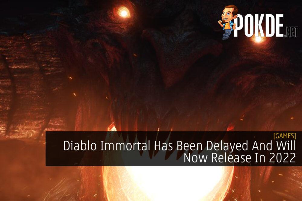 Diablo Immortal Delayed 2022 cover
