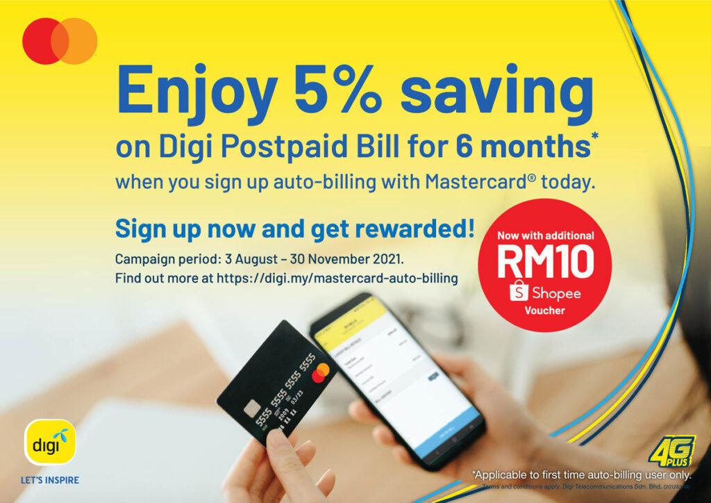 Digi Mastercard auto-billing