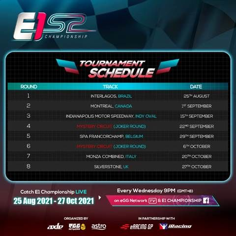 eGG Network and Axle Sports' E1 Championship's New Season Registrations Starts Today 21