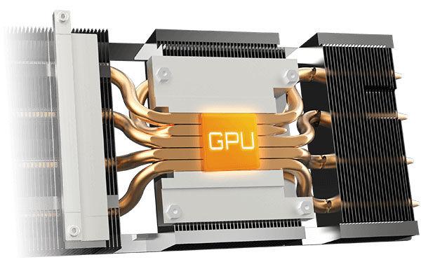 GIGABYTE Radeon RX 6600 XT Gaming PRO OC cooling system