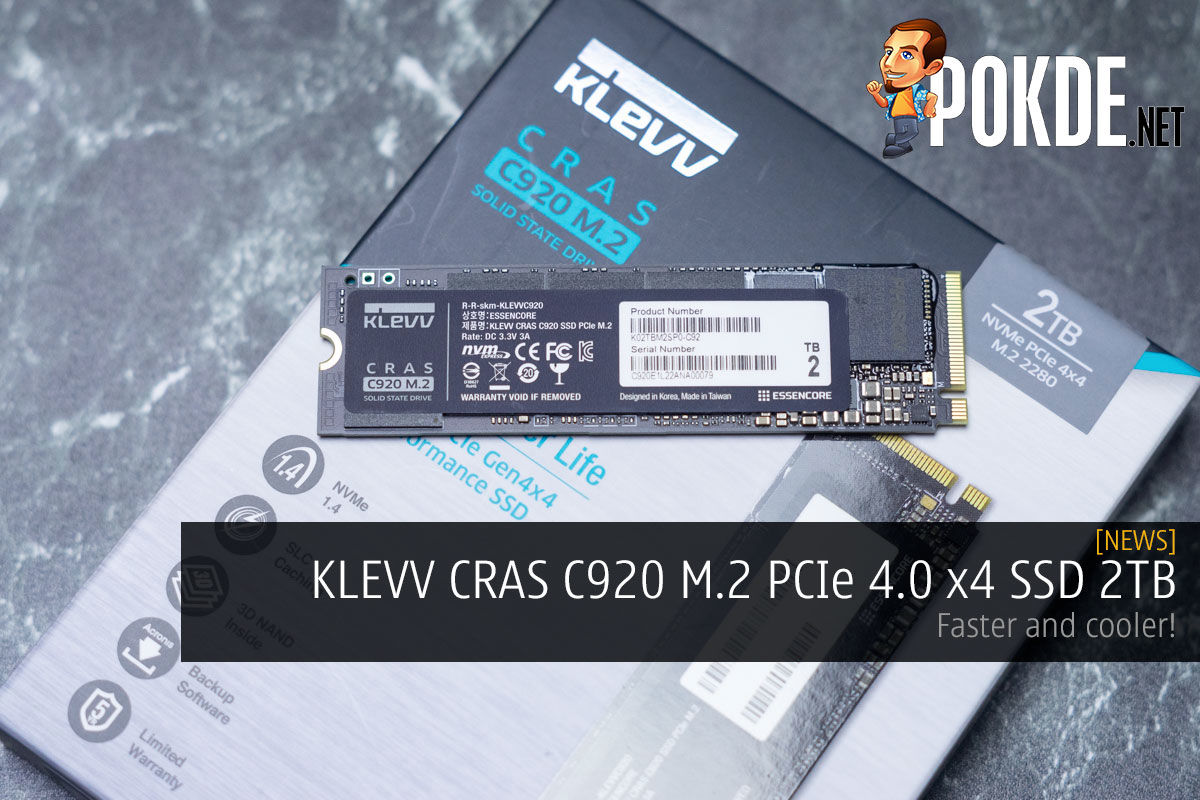 KLEVV CRAS C920 M.2 PCIe 4.0 x4 SSD 2TB Review — faster and cooler! 11