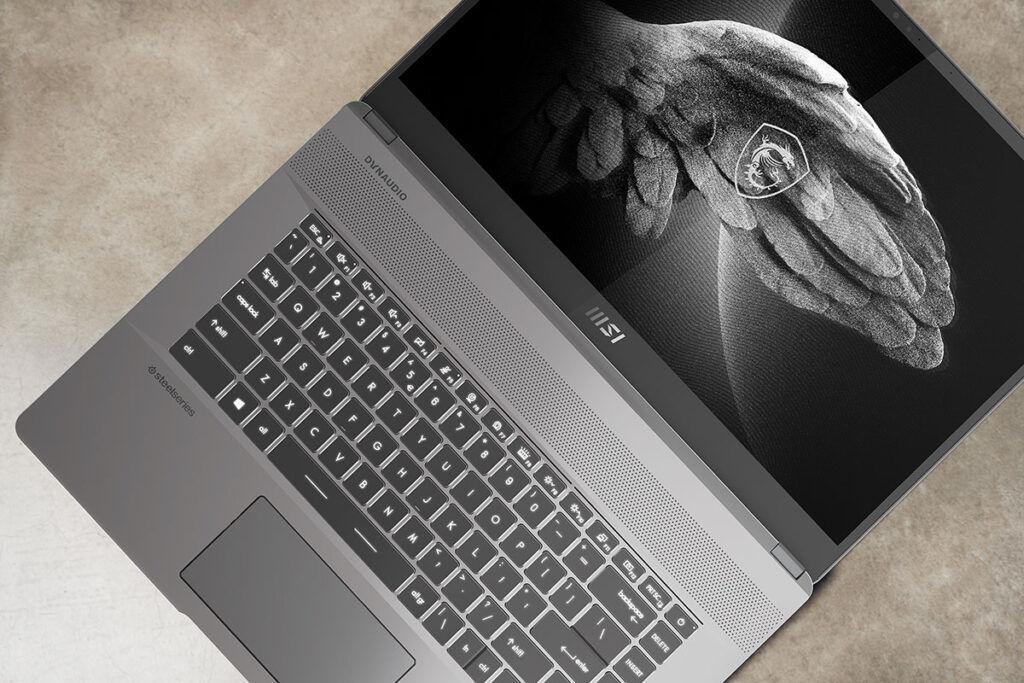 MSI Creator Z16 keyboard