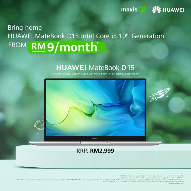 HUAWEI MateBook D 15 fom Maxis