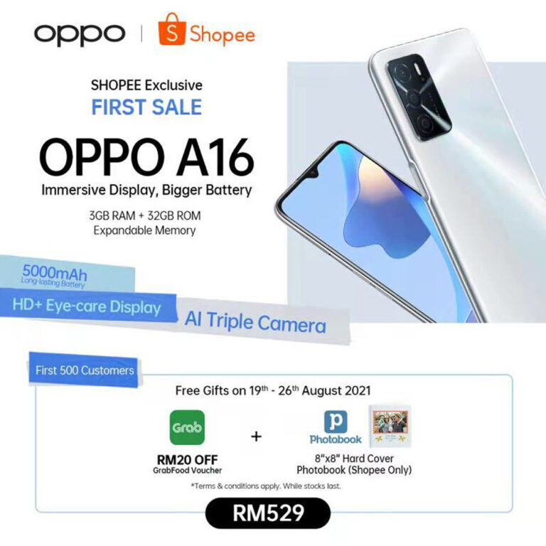 OPPO A16 With 5000mAh Battery And Triple Cameras Launching At RM529 22
