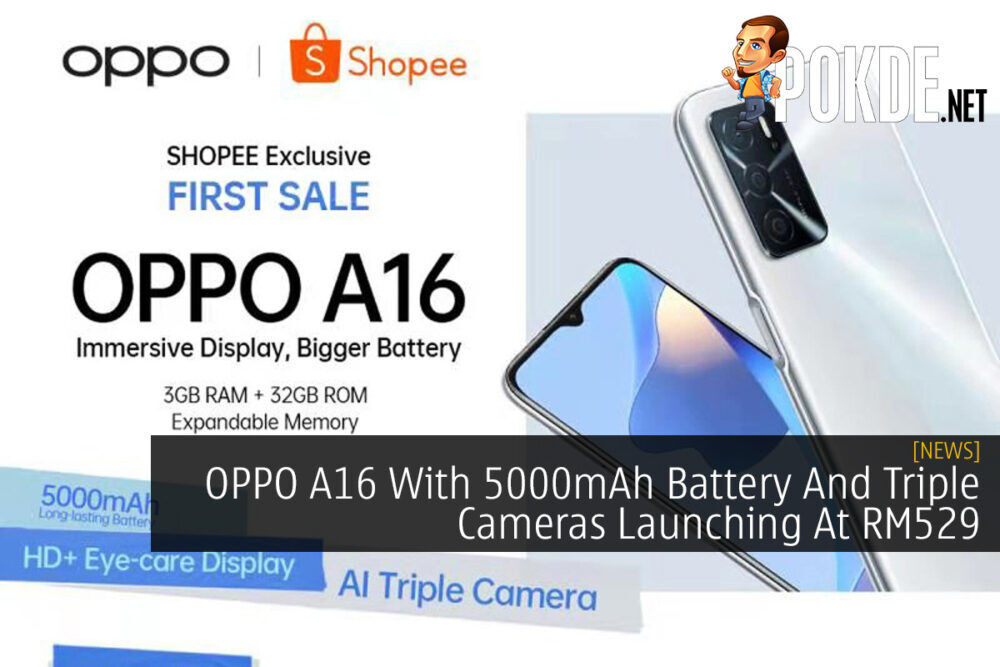 OPPO A16 With 5000mAh Battery And Triple Cameras Launching At RM529 21