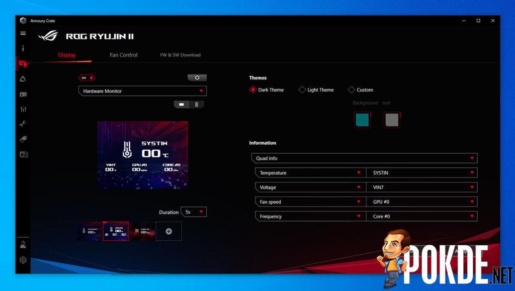 ROG Ryujin II 360 review hardware monitor