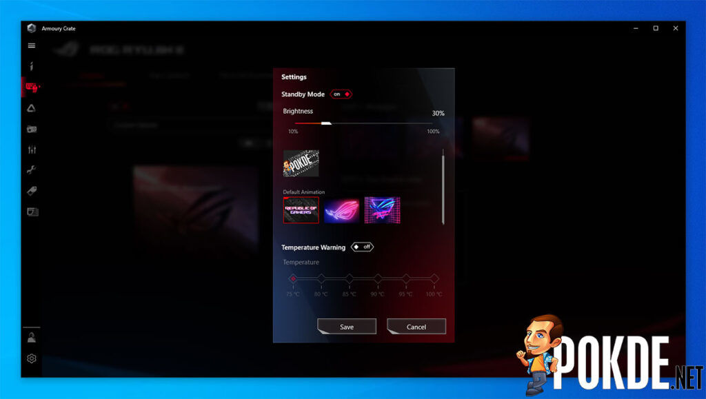 ROG Ryujin II 360 review standby mode