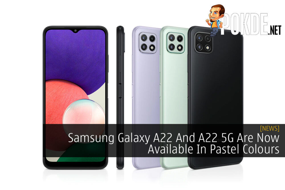 Samsung Galaxy A22 and A22 5G Pastel Colours cover