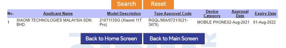 Xiaomi Mi 11T Pro SIRIM