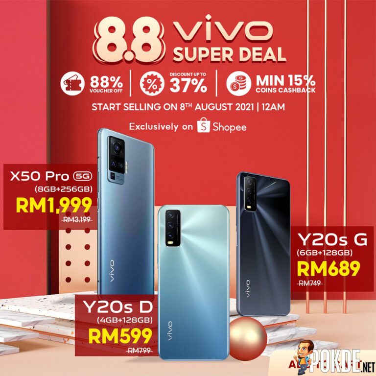 Get Discounts Of Up To 37% During vivo x Shopee 8.8 Brand Festival 21