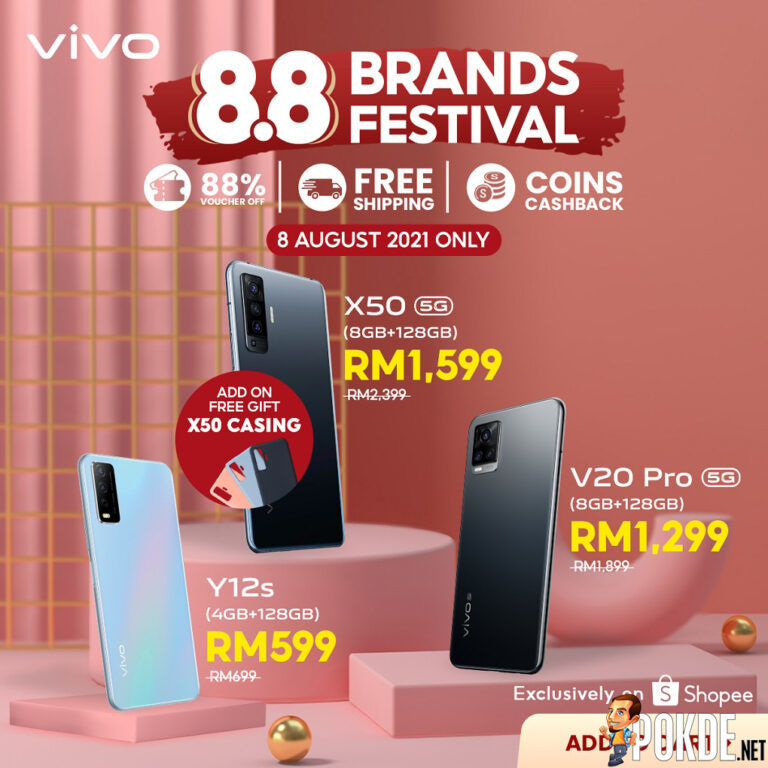Get Discounts Of Up To 37% During vivo x Shopee 8.8 Brand Festival 22
