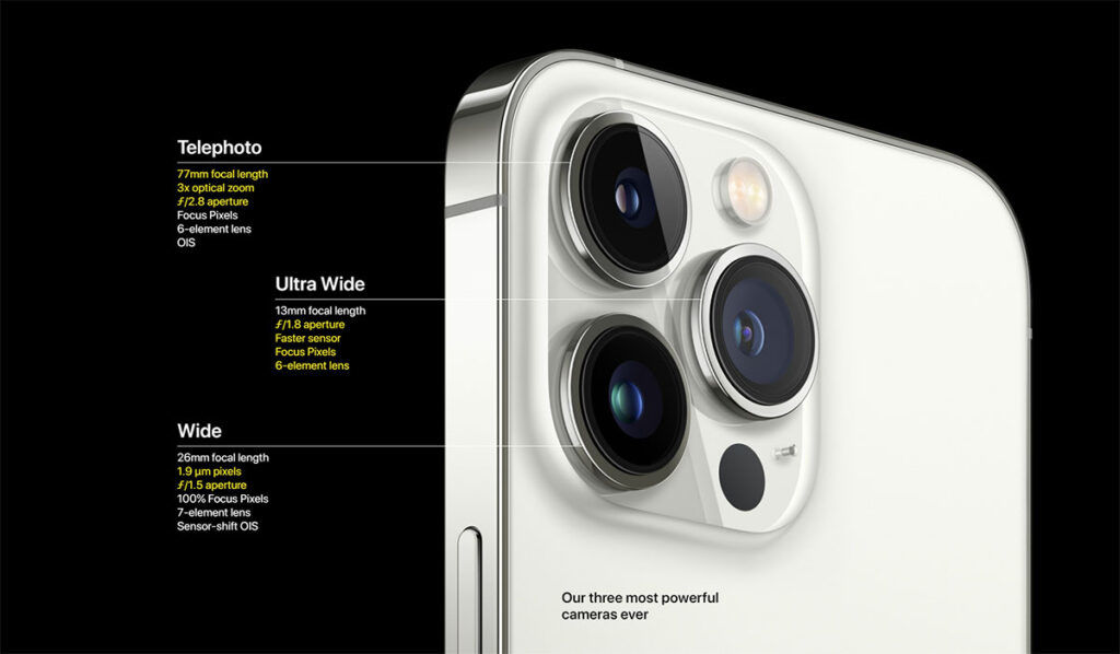 Apple iPhone 13 Pro camera specs