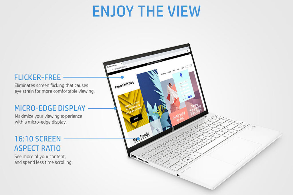 GLOO HP Pavilion Aero Laptop 13-be0047AU screen