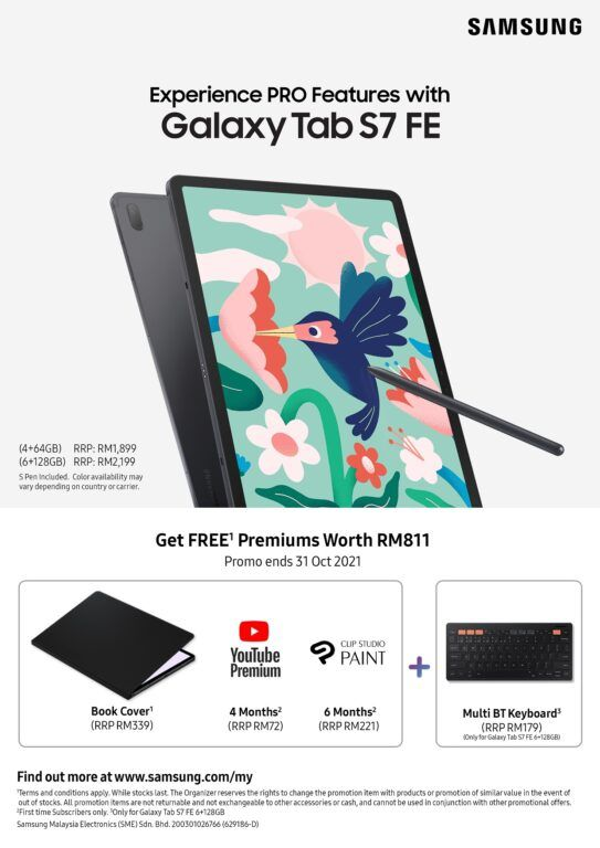 New Samsung Galaxy Tab S7 FE Launches In Malaysia 30