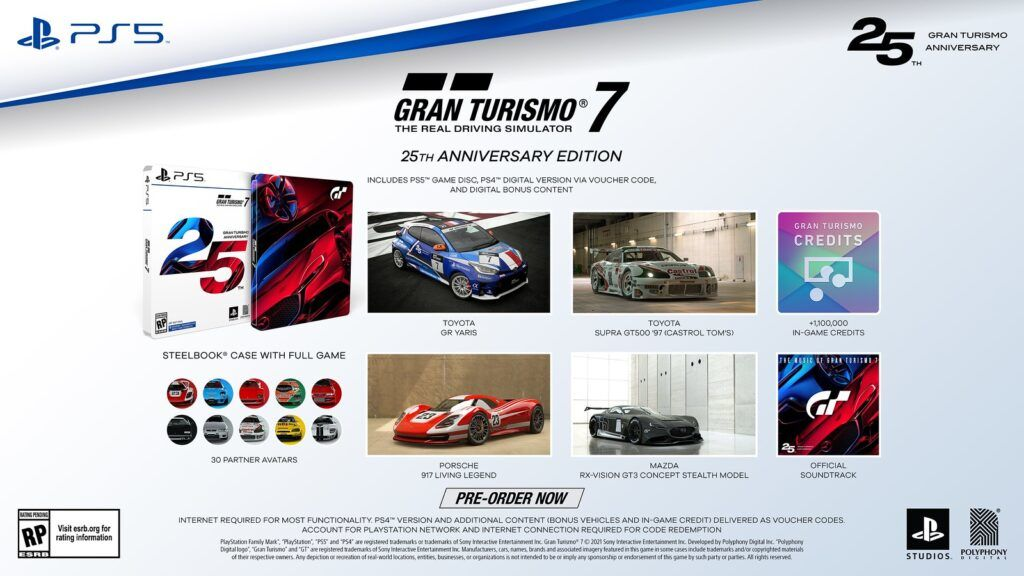 Pre-orders For New Gran Turismo 7 Open Now, Details On 25th Anniversary Edition Revealed 29