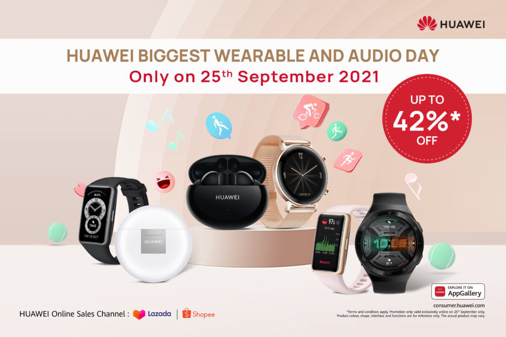 HUAWEI Is Offering Huge Discounts During Their Wearable And Audio Day This 25th September 27