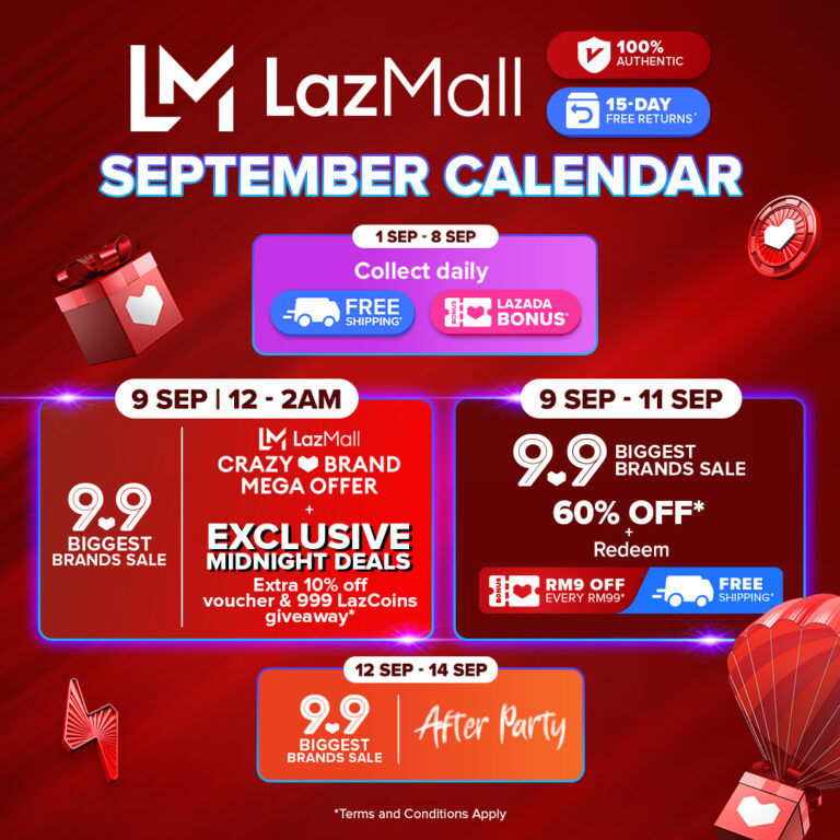 New LazMall Crazy Brand Mega Offers And More Coming To Lazada This 9.9 20
