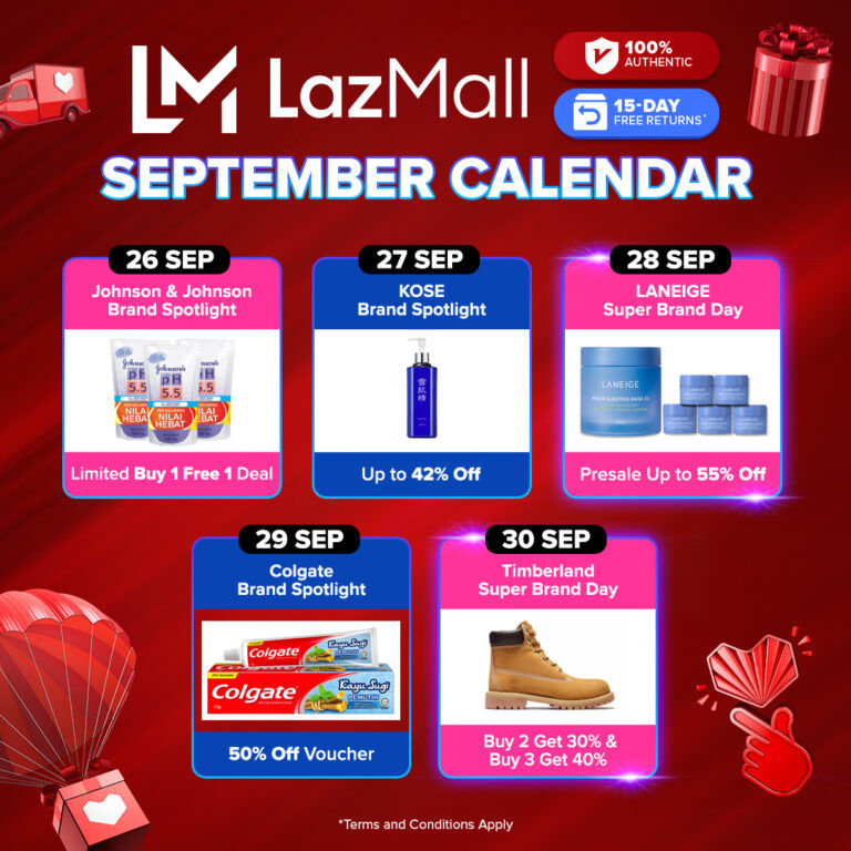 New LazMall Crazy Brand Mega Offers And More Coming To Lazada This 9.9 23