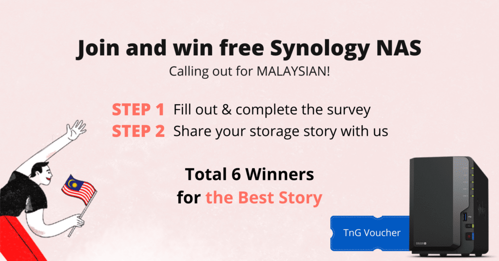 Stand A Chance To Win A New Synology NAS DS220+ When You Join Synology Malaysia's Event 21
