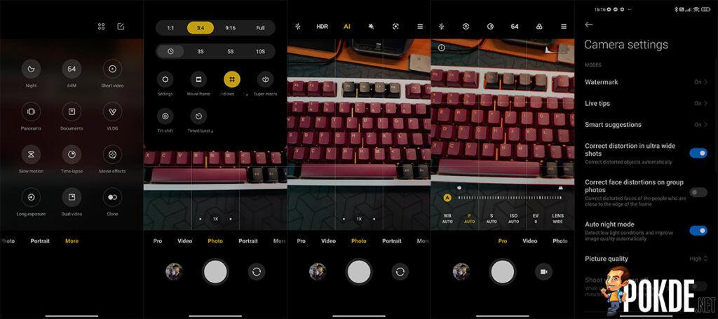 Xiaomi 11 Lite 5G NE review camera UI'