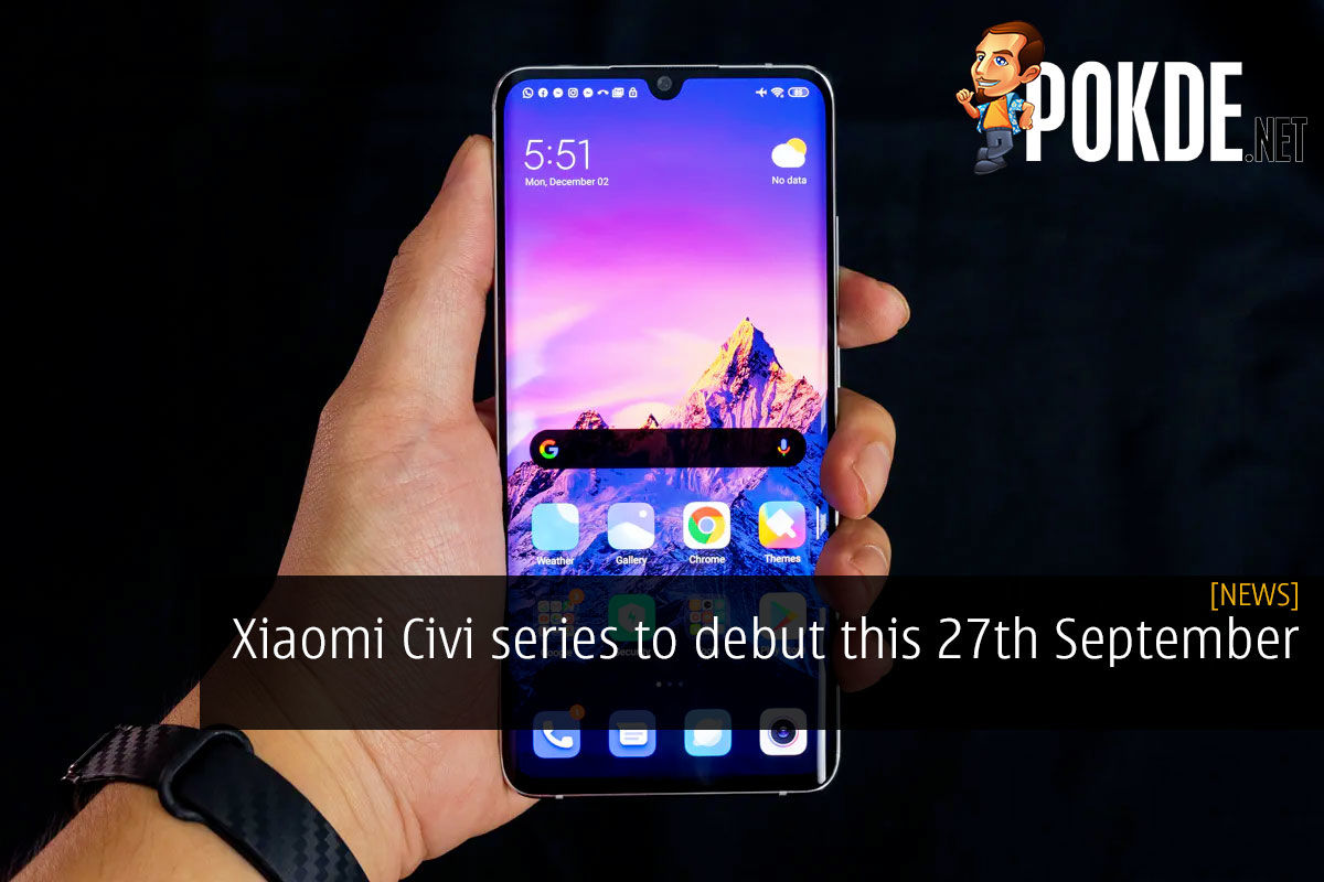 Xiaomi Civi series debut 27th september launch cover